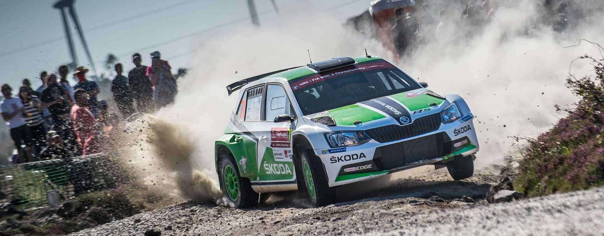 Stupně vítězů: ŠKODA slaví premiéru v mistrovství světa s vozem Fabia R5