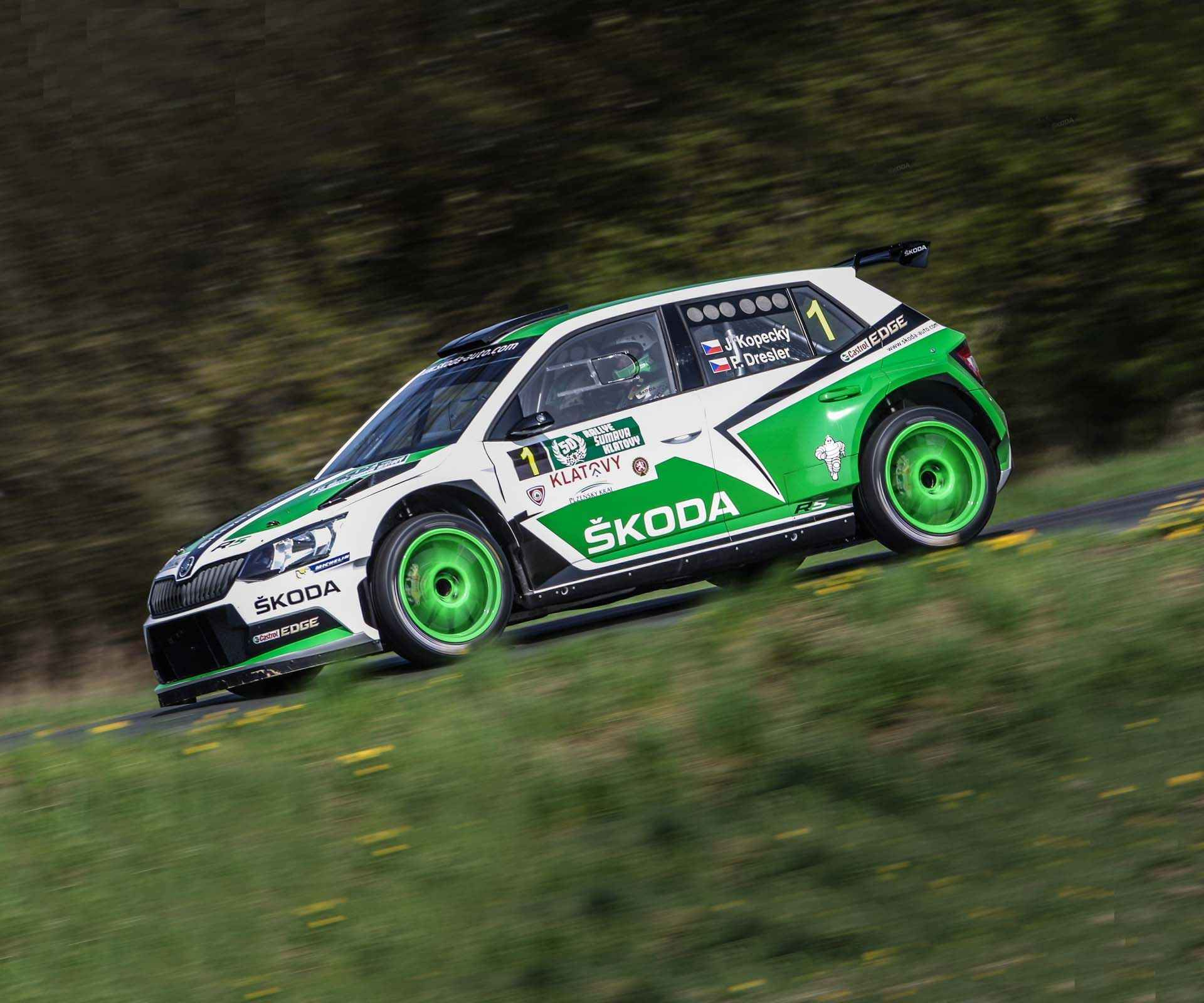 Onboard: First Shakedown of the new ŠKODA Fabia R5 2015 001