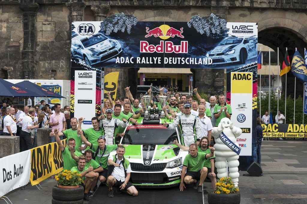 Jan Kopecký / Pavel Dresler, ŠKODA FABIA R5, ŠKODA Motorsport. Rallye Deutschland 2015