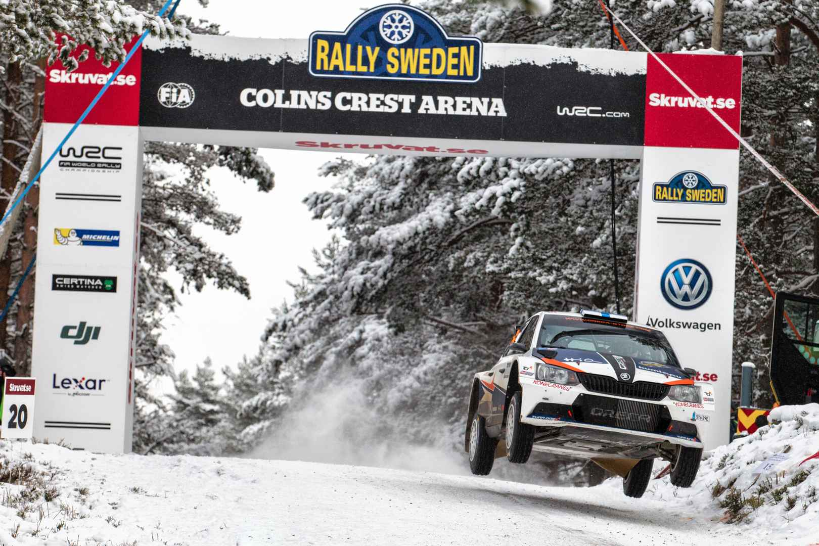 WRC Sweden Home Rally For Tidemand And Andersson ŠKODA Motorsport - Rally sweden map 2016