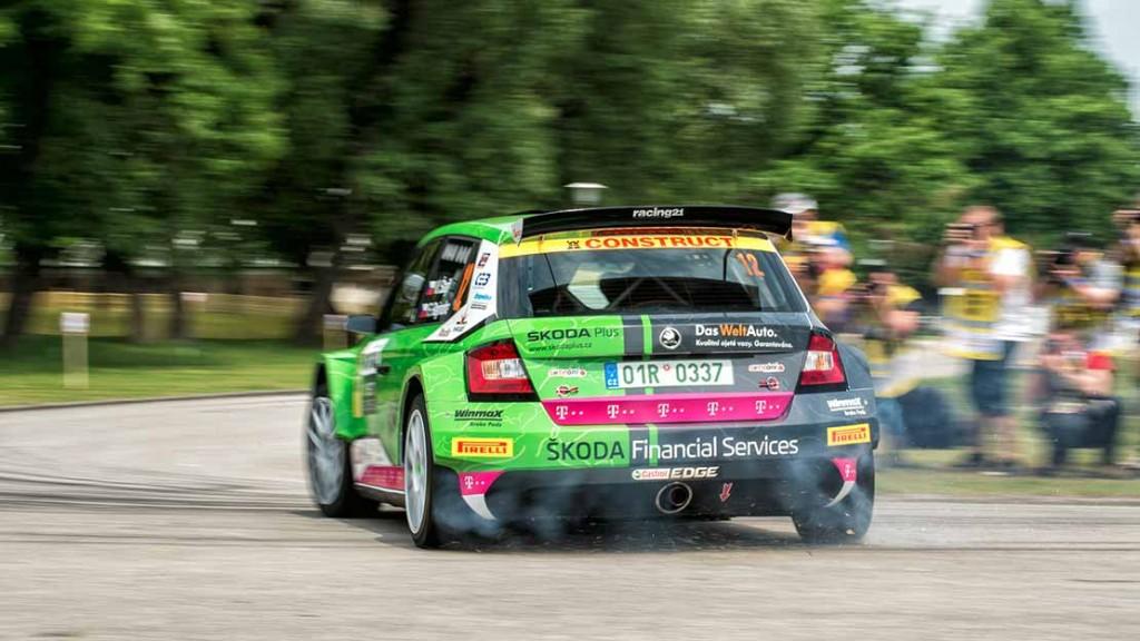Vojtěch Štajf/František Rajnoha, ŠKODA Fabia R5, Klokočka ŠKODA Czech National Team. Rallye Český Krumlov 2016