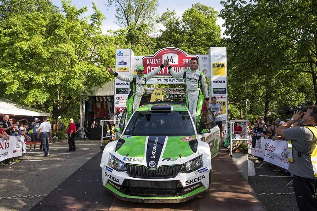 Jan Kopecký / Pavel Dresler, ŠKODA Fabia R5, ŠKODA Motorsport. Rallye Český Krumlov 2016
