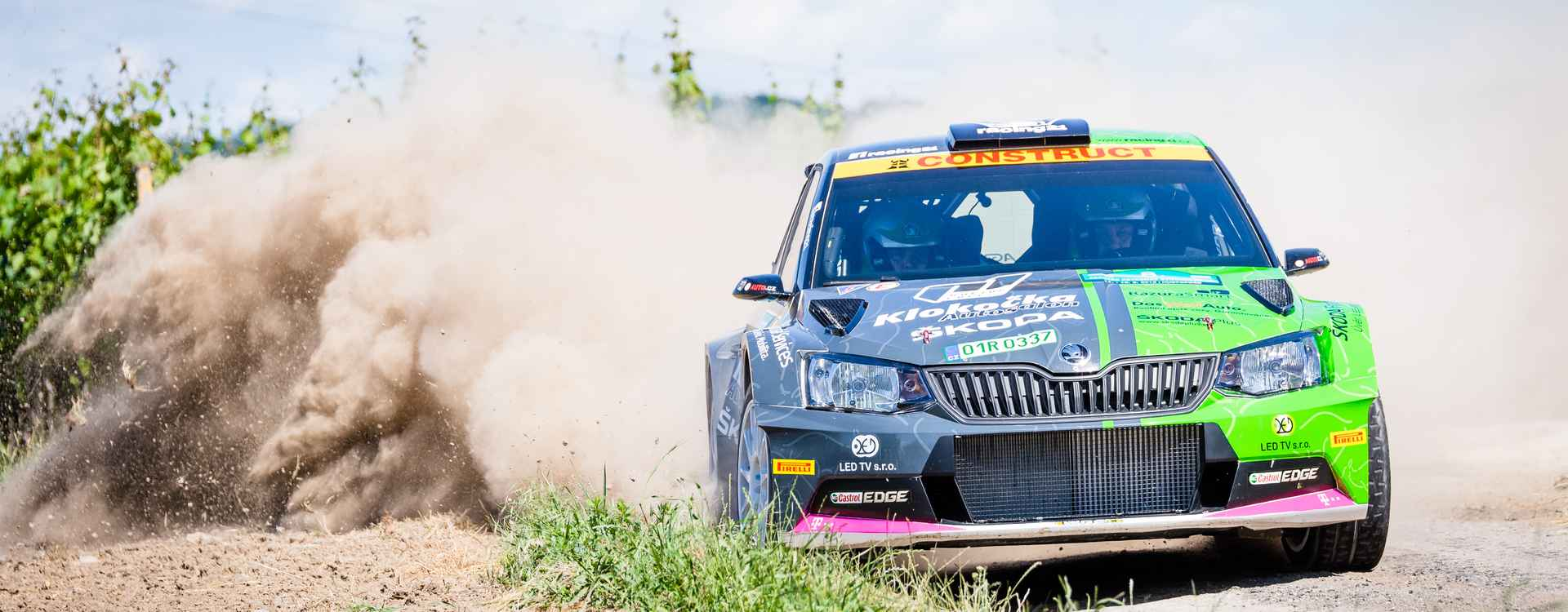 FOTO: Vozy ŠKODA Fabia R5 na Rally Hustopeče