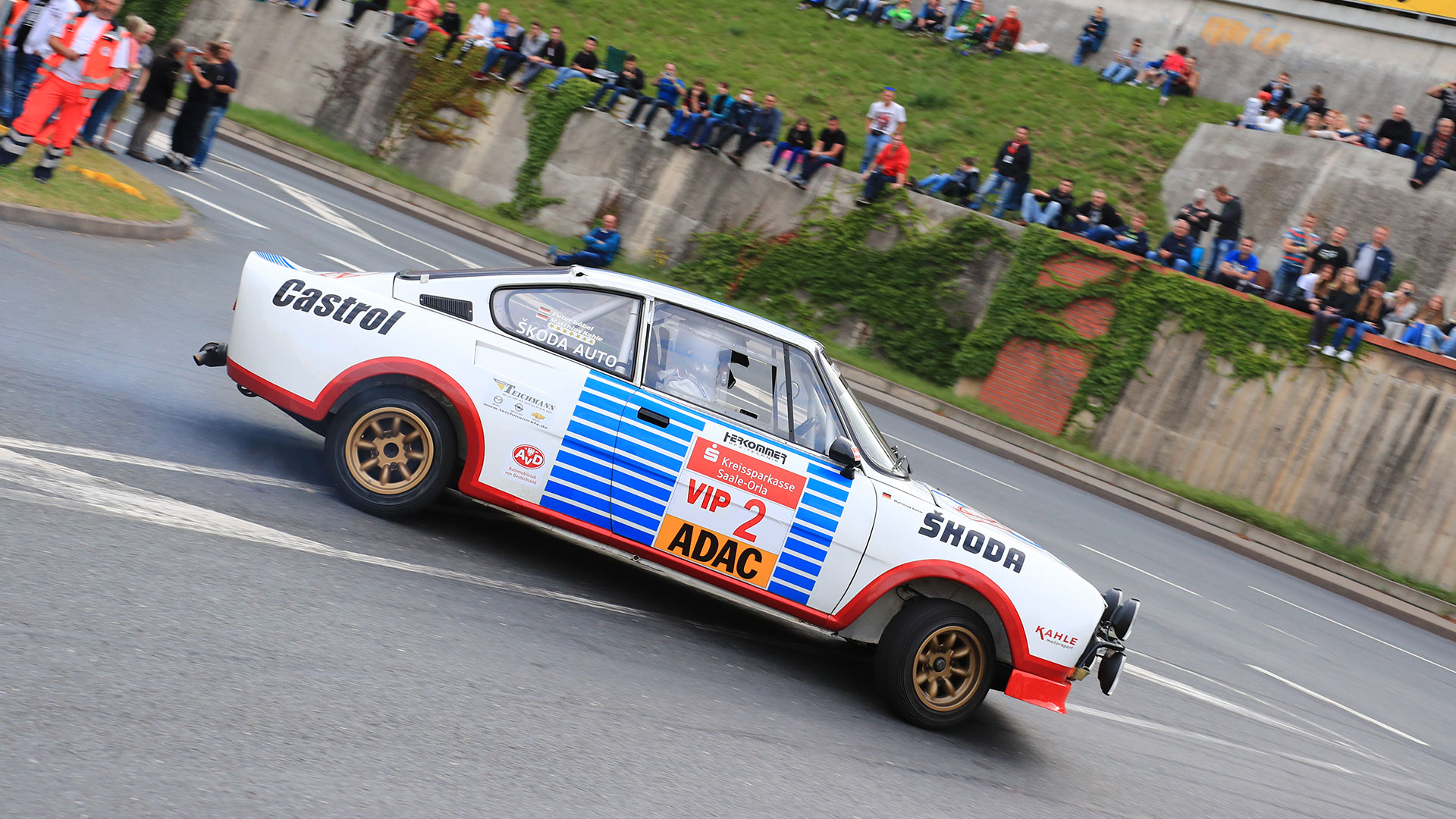Mattias Kahle, ŠKODA 130 RS. Thüringen Rallye 2016