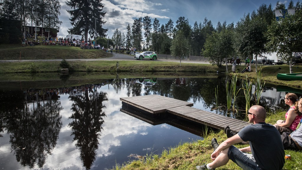 Pontus Tidemand / Jonas Andersson, ŠKODA Fabia R5, ŠKODA Motorsport. Rally Finland 2016.