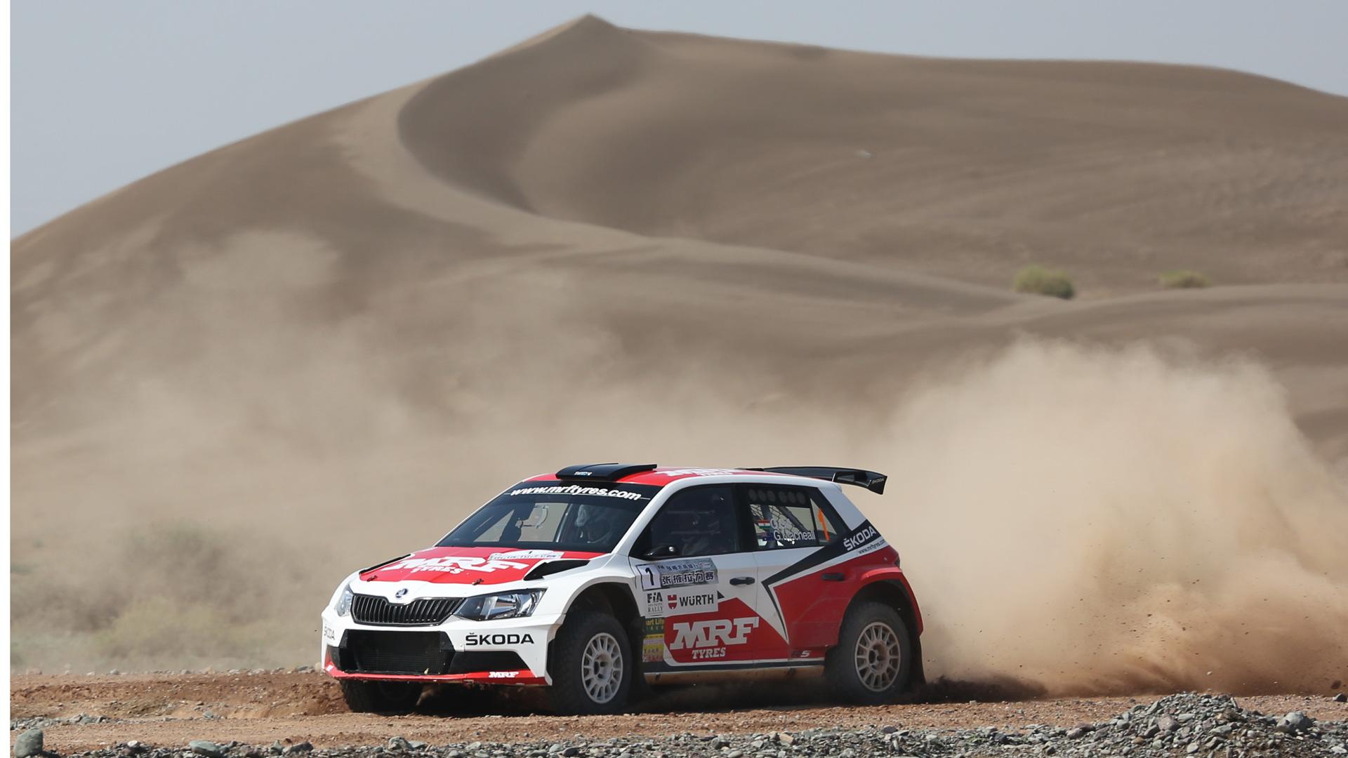 Gaurav Gill / Glenn MacNeall, ŠKODA FABIA R5, Team MRF. APRC China Rally Zhangye 2016