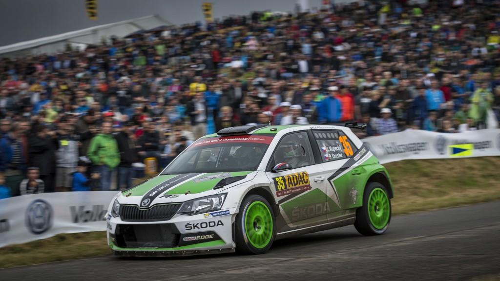 Jan Kopecký / Pavel Dresler, ŠKODA FABIA R5, Škoda Motorsport. ADAC Rallye Deutschland 2016