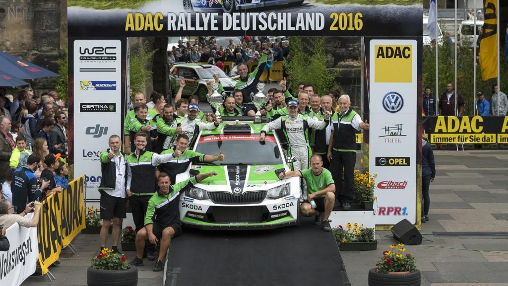 Esapekka Lappi / Janne Ferm, ŠKODA FABIA R5, ŠKODA Motorsport. ADAC Rallye Deutschland 2016