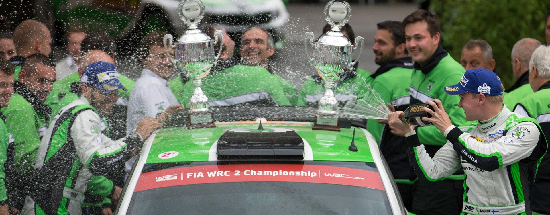 ŠKODA celebrates 1-2-3-4 result at the Rally Germany