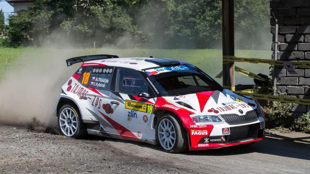 Antonín Tlusťák / Ivo Vybíral, ŠKODA FABIA R5, Tlusťák Racing. Barum Czech Rally Zlín 2016
