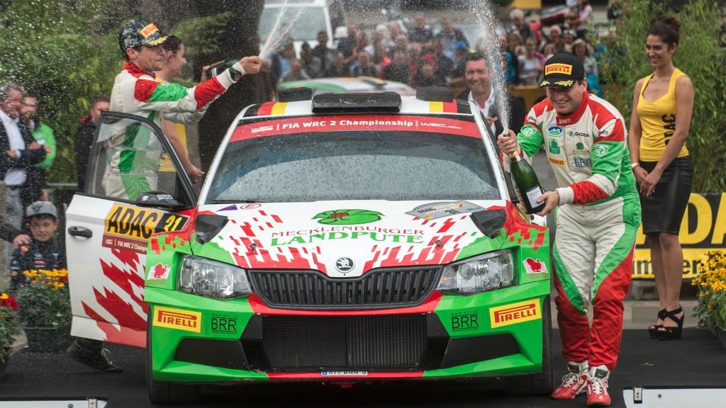 Armin Kremer / Primin Winklhofer, ŠKODA FABIA R5, BRR Baumschlager Rallye & Racing Team. ADAC Rallye Deutschland 2016