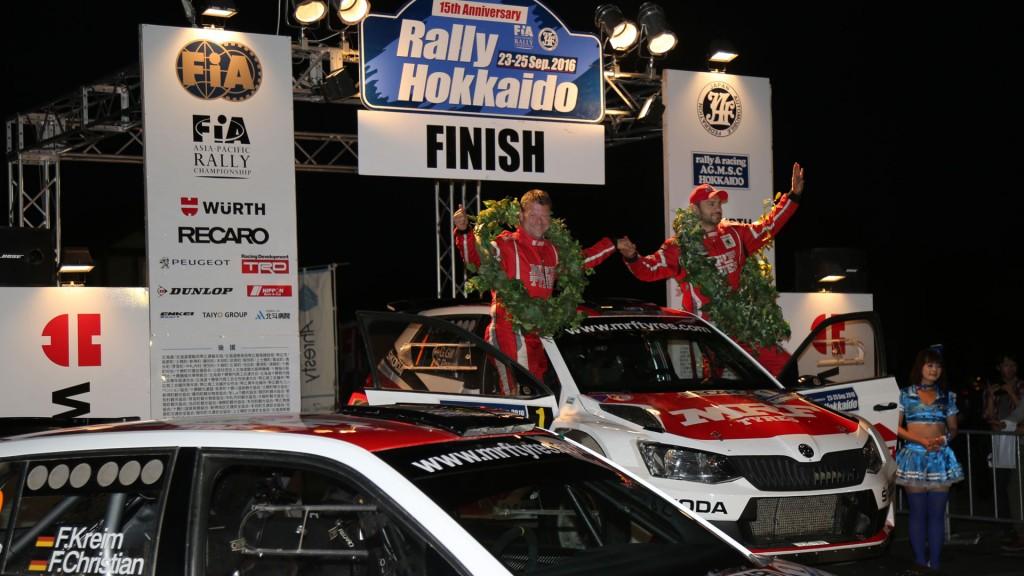 Gaurav Gill / Stéphane Prévot, ŠKODA FABIA R5, Team MRF. Rally Hokkaido 2016