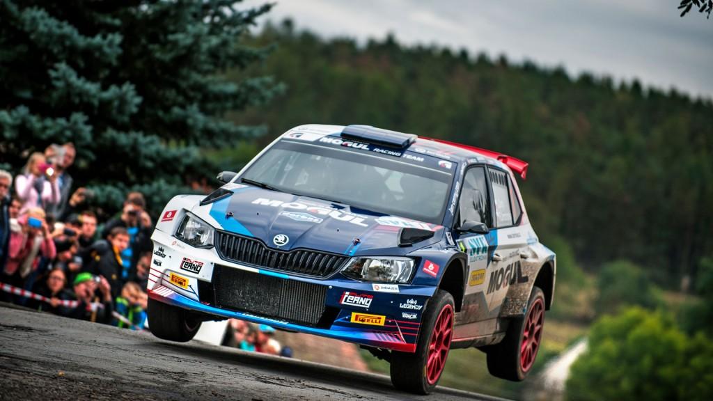 Jan Černý / Petr Černohorský jun., ŠKODA FABIA R5, Mogul Racing Team. SVK Rally Příbram 2016