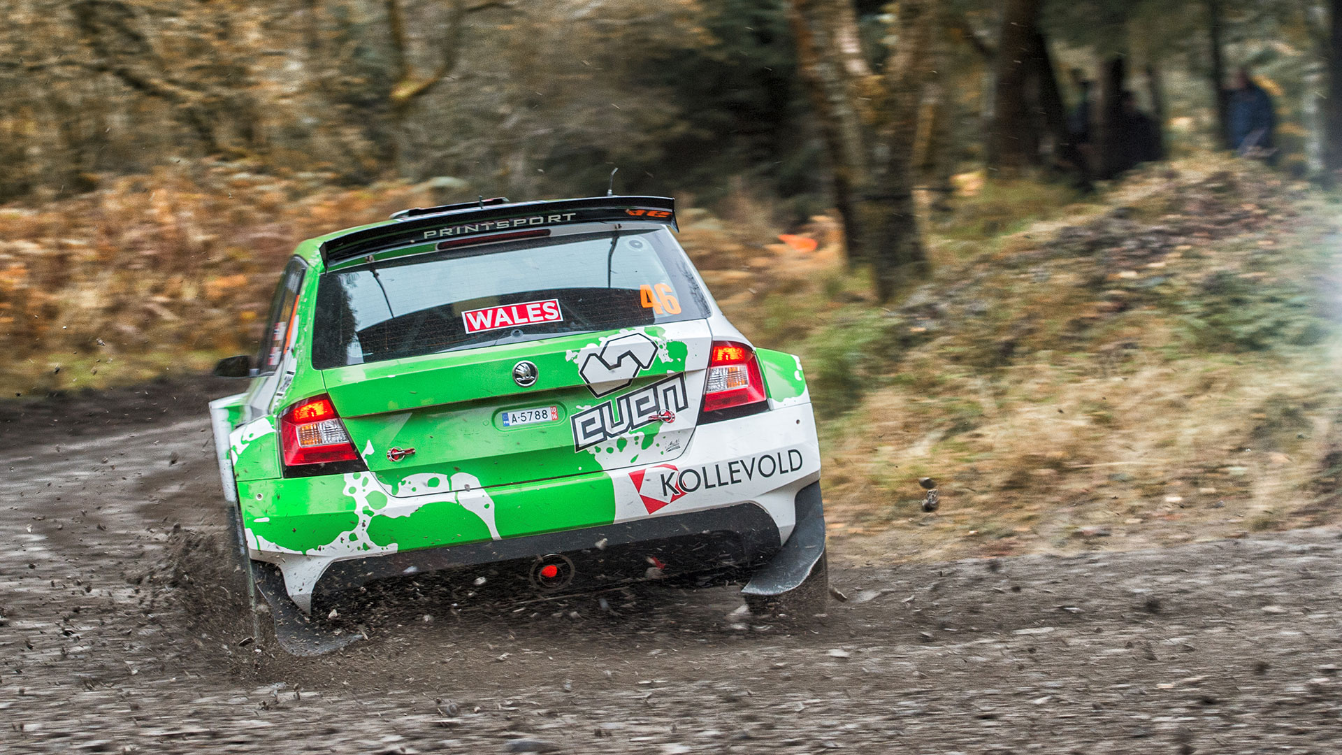 Ole Christian Veiby / Stig Rune Skjærmoen, ŠKODA FABIA R5, Printsport Oy. Dayinsure Wales Rally GB 2016