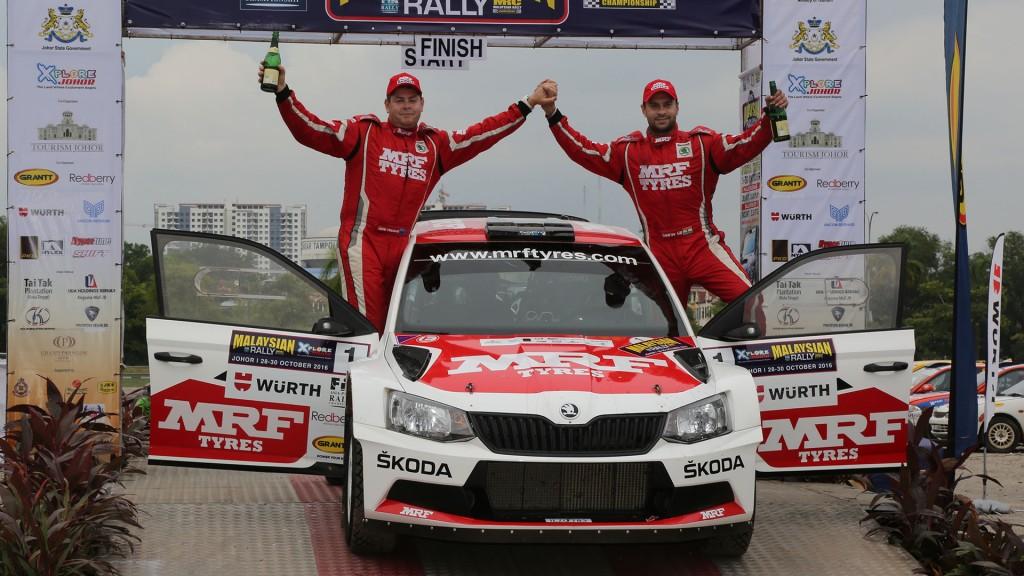 Gaurav Gill / Glenn Macneall, ŠKODA FABIA R5, Team MRF. APRC Malaysian Rally 2016