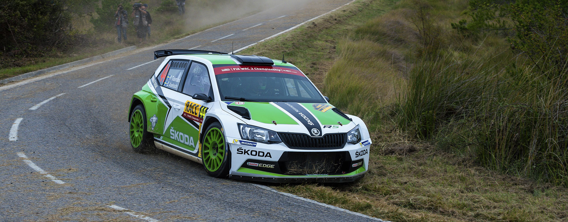 From the archives: ŠKODA took first four places in WRC2 at the Rally Spain 2015