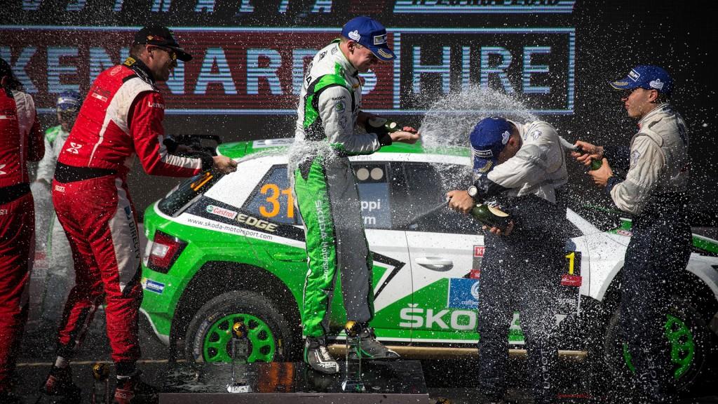 Esapekka Lappi / Janne Ferm, Nicolás Fuchs / Fernando Mussano, Hubert Ptaszek / Maciej Szczepaniak. Kennards Hire Rally Australia 2016