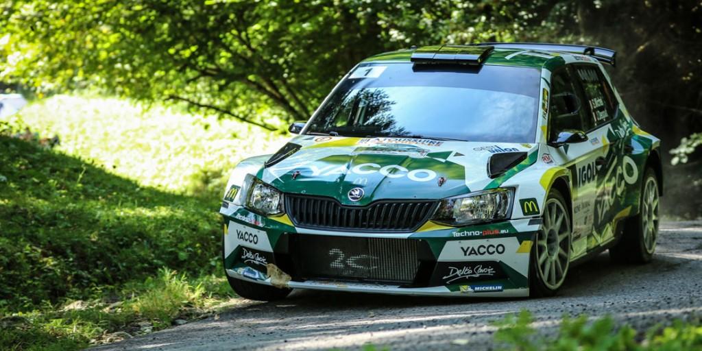 Sylvain Michel / Jérôme Degout, ŠKODA FABIA R5, Team 2C Yacco. Rallye Mont-Blanc Morzine 2016 (Photo: YACCO)