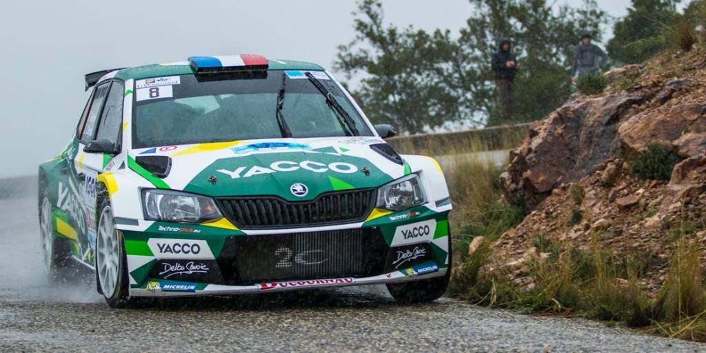 Sylvain Michel / Jérôme Degout, ŠKODA FABIA R5, Team 2C Yacco. Rallye du Var 2016 (Photo: Yacco)