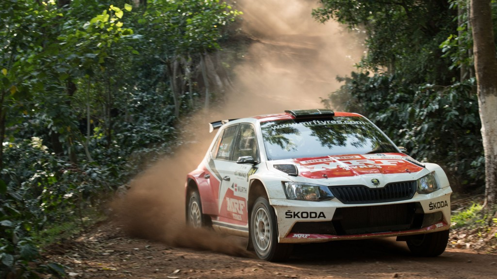 Gaurav Gill / Glenn Macneall, ŠKODA FABIA R5, Team MRF. APRC Coffee Day India Rally 2016