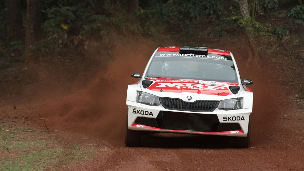 Fabian Kreim / Frank Christian, ŠKODA FABIA R5, Team MRF. APRC Coffee Day India Rally 2016