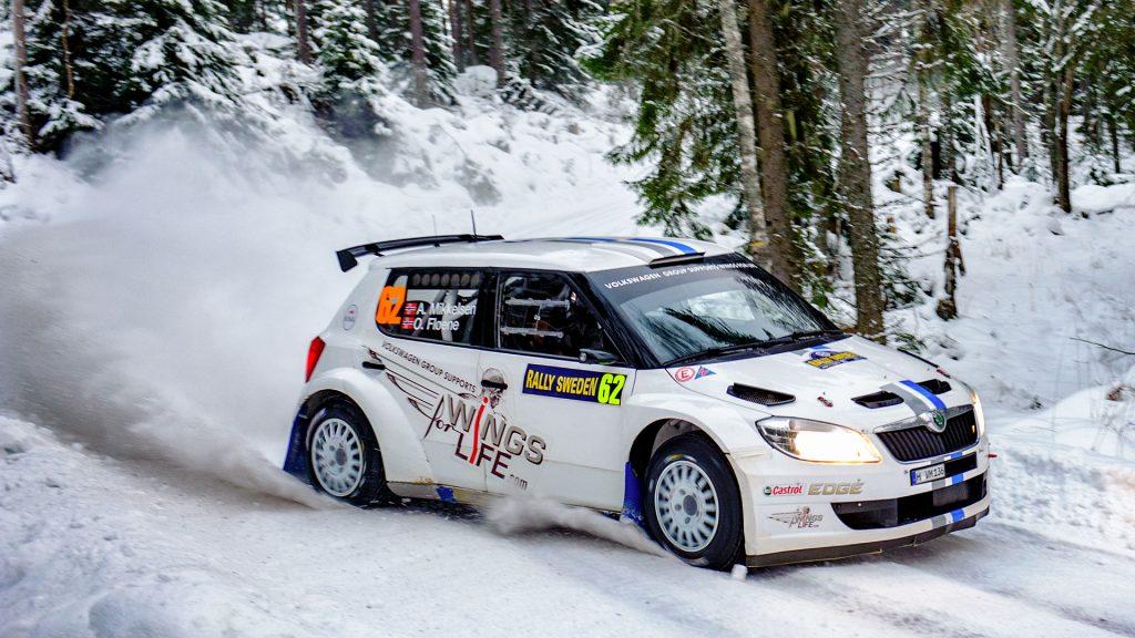 Andreas Mikkelsen / Ola Fløene, ŠKODA FABIA S2000, Volkswagen Motorsport. Rally Sweden 2012