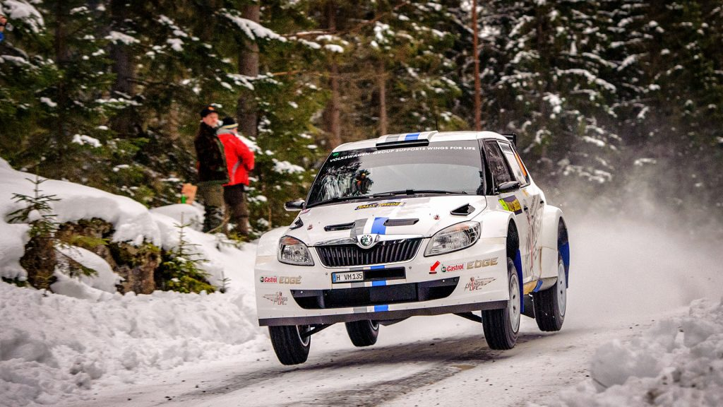 Sébastien Ogier / Julien Ingrassia, ŠKODA FABIA S2000, Volkswagen Motorsport. Rally Sweden 2012