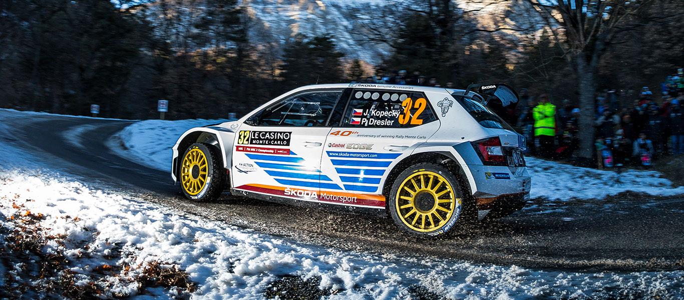 PHOTO: ŠKODA Motorsport at the Rallye Monte Carlo 2017