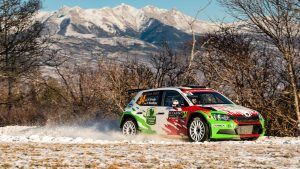 Armin Kremer / Pirmin Winklhofer, ŠKODA FABIA R5, BRR Baumschlager Rallye & Racing Team. Rallye Automobile de Monte-Carlo 2017