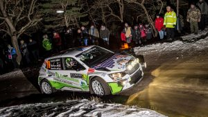 Matthieu Margaillan / Mathilde Margaillan, ŠKODA FABIA R5. Rallye Automobile de Monte-Carlo 2017
