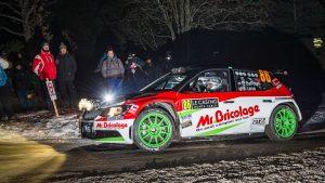 Philippe Baffoun / Bruno Larue, ŠKODA FABIA R5. Rallye Automobile de Monte-Carlo 2017
