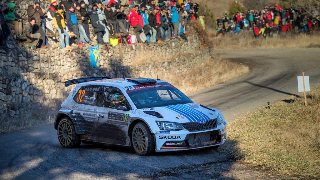 Jan Kopecký / Pavel Dresler, ŠKODA FABIA R5, ŠKODA Motorsport. Rallye Automobile de Monte-Carlo 2017