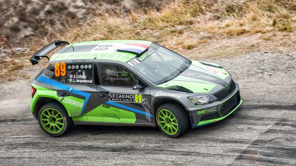 Jérémy Cretien / Lilian Jacquemoud, ŠKODA FABIA R5. Rallye Automobile de Monte-Carlo 2017