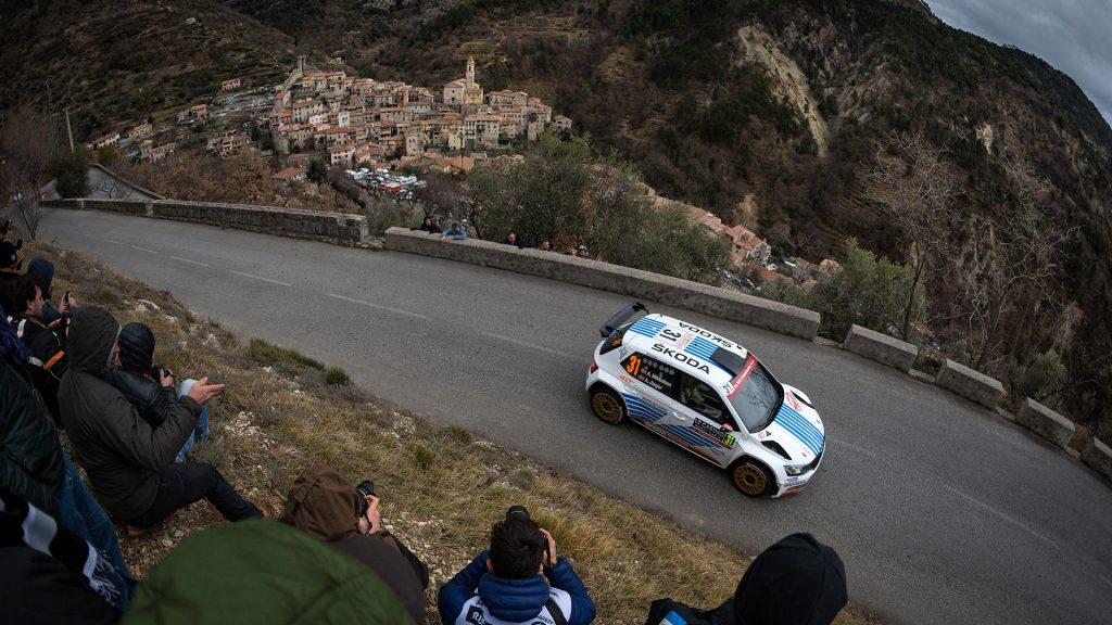 Andreas Mikkelsen / Anders Jager, ŠKODA FABIA R5, ŠKODA Motorsport. Rallye Automobile de Monte-Carlo 2017
