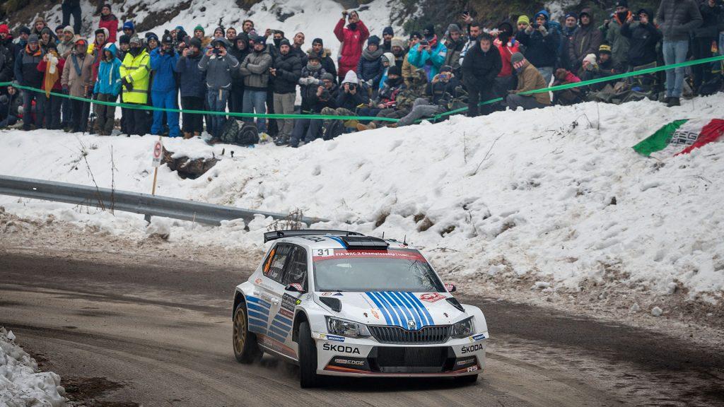 Andreas Mikkelsen / Anders Jæger, ŠKODA FABIA R5, ŠKODA Motorsport. Rallye Automobile de Monte-Carlo 2017