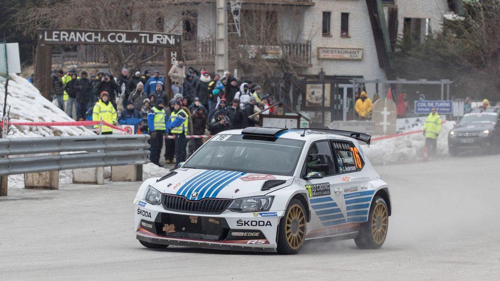 Pontus Tidemand / Jonas Andersson, ŠKODA FABIA R5, ŠKODA Motorsport. Rallye Automobile de Monte-Carlo 2017