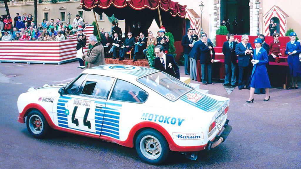 Miloslav Zapadlo / Jiří Motal, ŠKODA 130 RS, ŠKODA Motorsport. Rallye Automobile de Monte-Carlo 1977