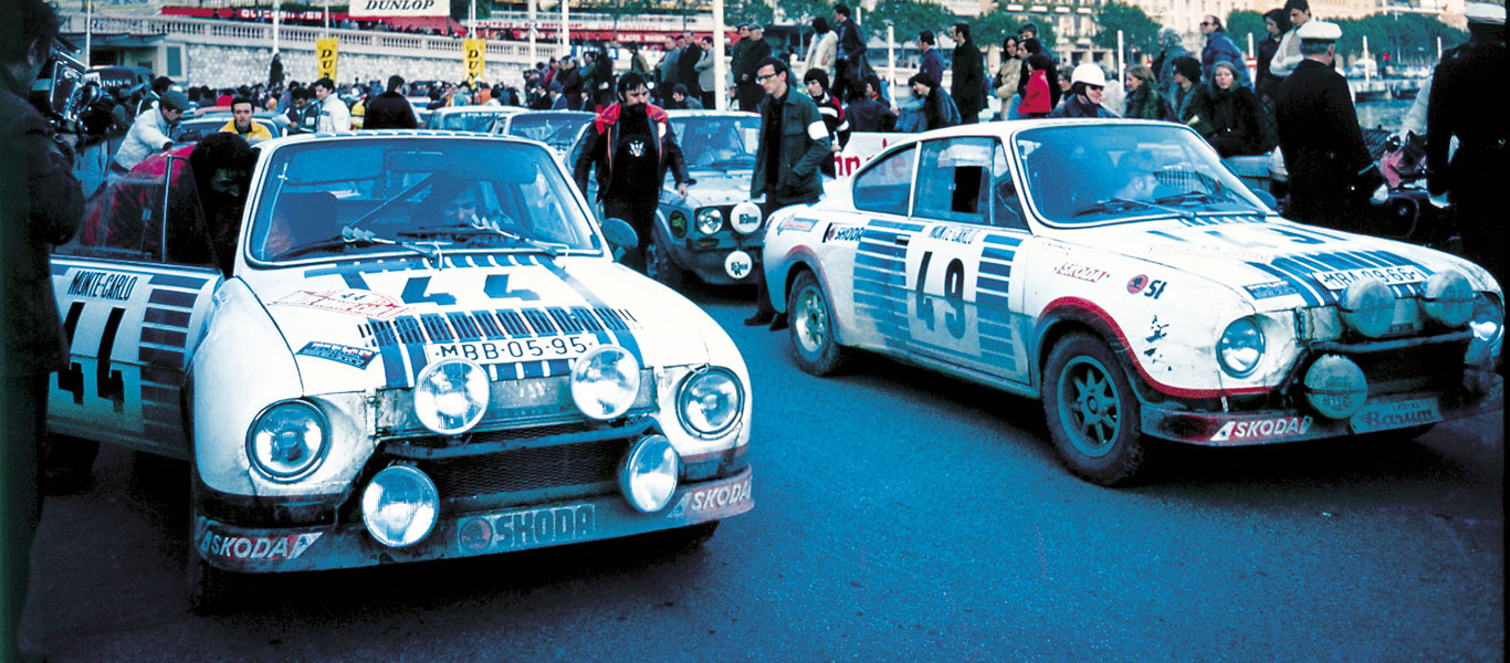 40 years ago: double victory for the ŠKODA 130 RS at the Rallye Monte Carlo
