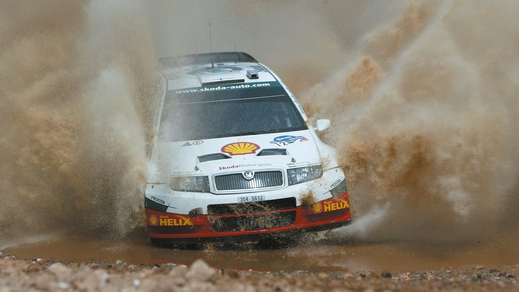 Jani Paasonen / Jani Vainikka, ŠKODA FABIA WRC, ŠKODA Motorsport. Rally Mexico 2005