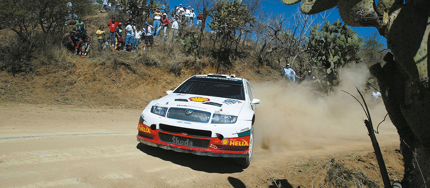 From the Archives: ŠKODA through the years at the WRC Rally Mexico