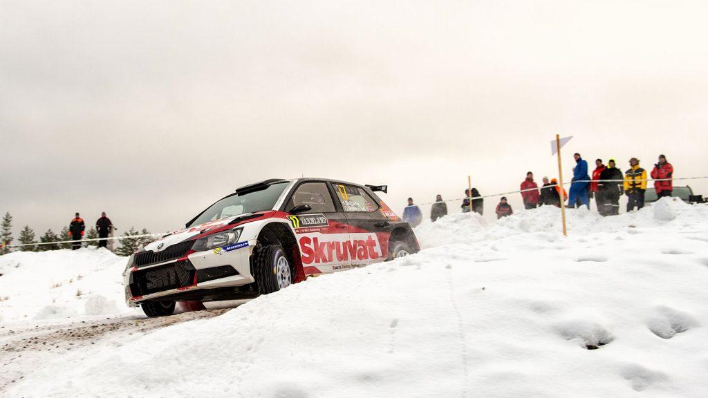 Henning Solberg / Cato Menkerud, ŠKODA FABIA R5, Sports Racing Technologies. Rally Sweden 2017