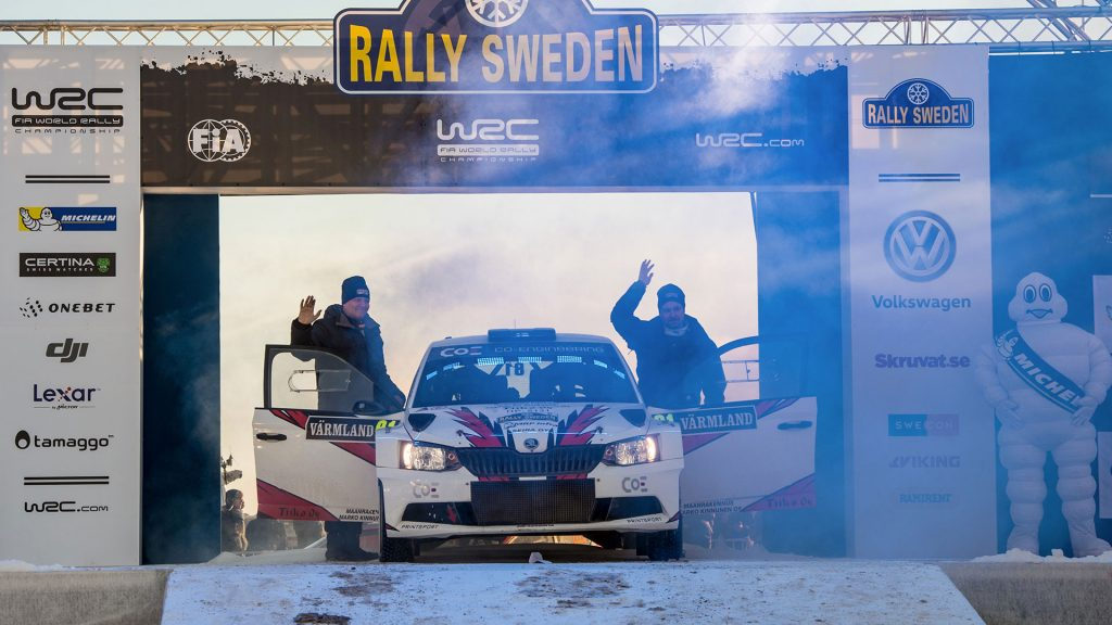 Jukka Ketomäki / Jarkko Alanen, ŠKODA FABIA R5. Rally Sweden 2017