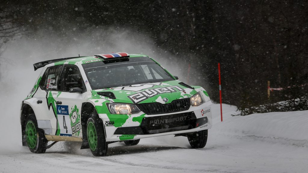Ole Christian Veiby / Stig Rune Skjærmoen, ŠKODA FABIA R5, Printsport Oy. Numedalsrally 2017 (Foto: Simen Næss Hagen / Even Management)