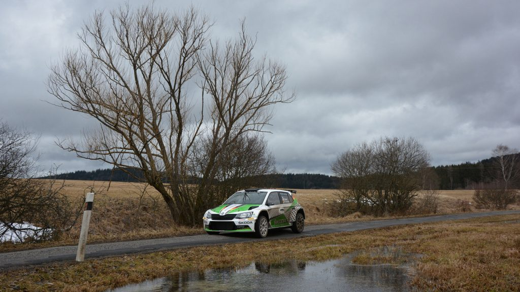 Fabian Kreim / Frank Christian, ŠKODA FABIA R5, ŠKODA AUTO Deutschland. Pre Event Test, Saarland-Pfalz Rallye 2017 (Foto: Harald Illmer)
