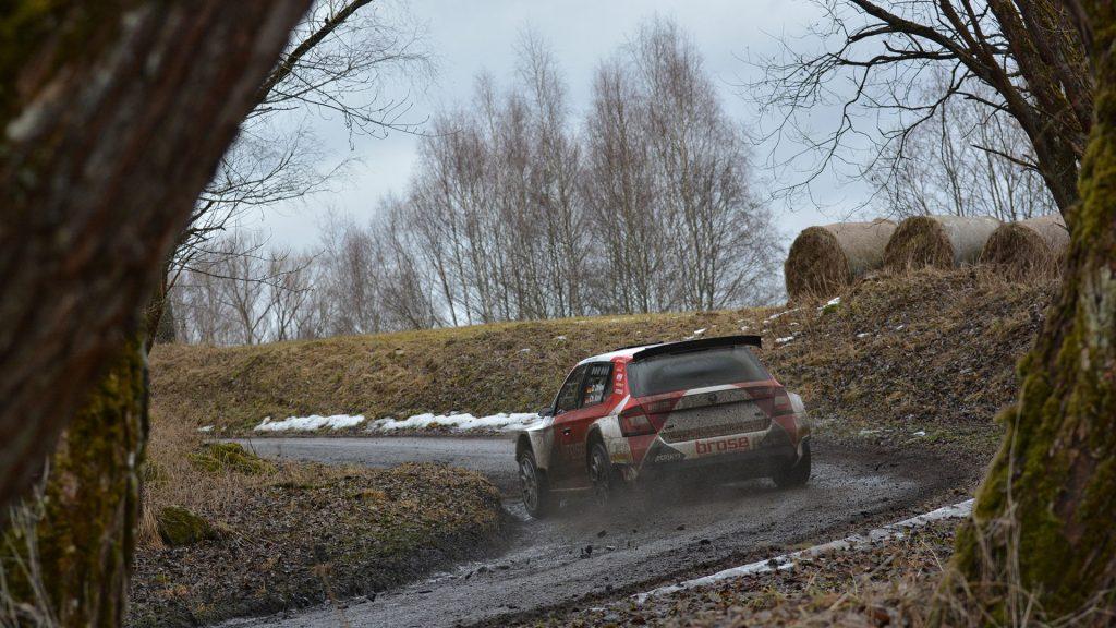 Dominik Dinkel / Christina Kohl, ŠKODA FABIA R5, Brose Motorsport. Pre Event Test, Saarland-Pfalz Rallye 2017 (Foto: Harald Illmer)