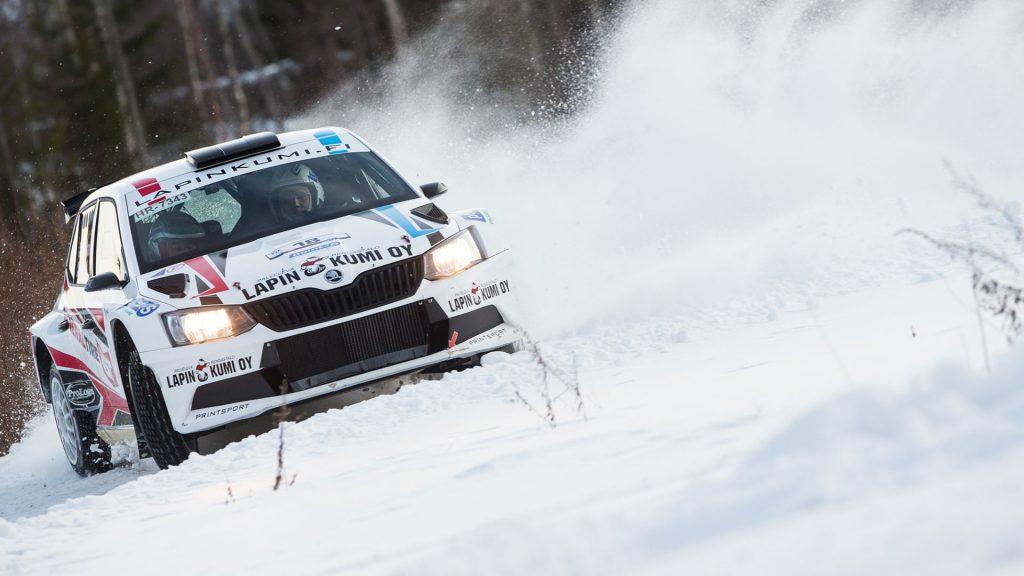 Ville Ruokanen / Timo Pallari, ŠKODA FABIA R5, Printsport Oy. Vaakuna Ralli 2017