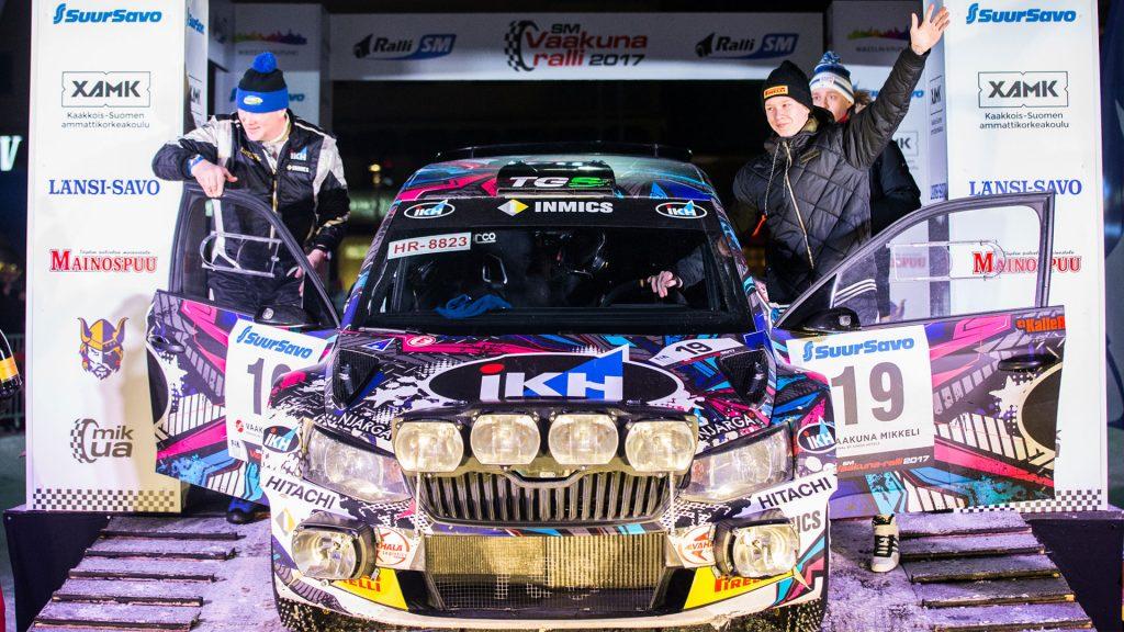 Kalle Rovanperä / Risto Pietiläinen, ŠKODA FABIA R5, TGS Worldwide OU. Vaakuna Ralli 2017
