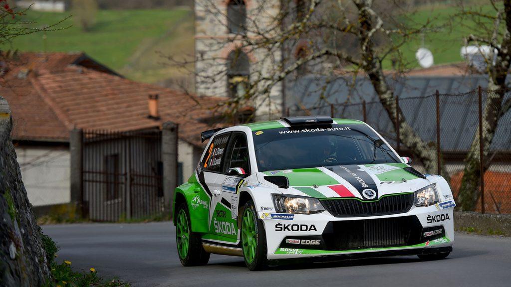 Umberto Scandola / Guido D'Amore, ŠKODA FABIA R5, ŠKODA Italia Motorsport. Rally del Ciocco e Valle del Serchio 2017