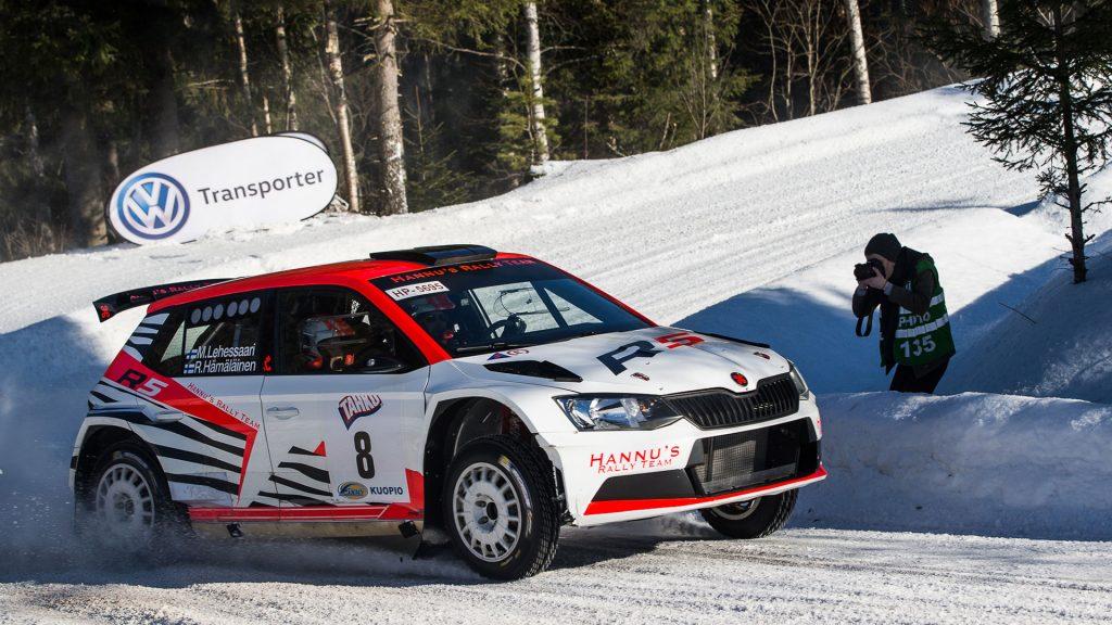 Mikko Lehessaari / Reeta Hämäläinen, ŠKODA FABIA R5, Hannu's Rally Team. Tahko SM Ralli 2017