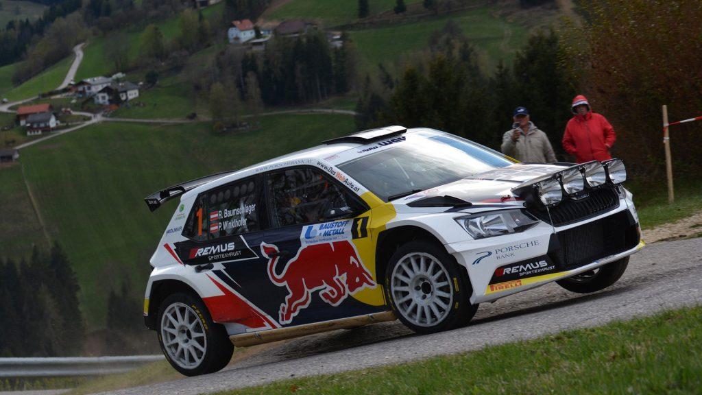 Raimund Baumschlager / Pirmin Winklhofer, ŠKODA FABIA R5, BRR Baumschlager Rallye & Racing Team. Lavanttal Rallye 2017 (Photo: BRR/Harald Illmer)